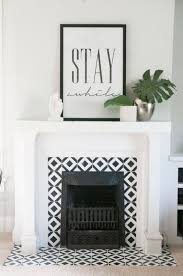 on lit handpainted tile fireplace earnest home co