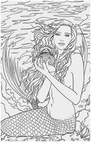Mermaid Coloring Pages For Adults Good Realistic Mermaid Coloring