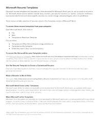 Microsoft Resume Templates 2013 Stunning Resume Template For Word Free Downloadable Resume Templates Word