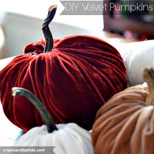 learn how to make stuffed velvet pumpkins with real stems