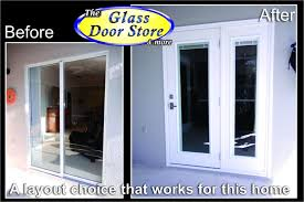 french door replaces small sliding glass door to patio 2 jpg