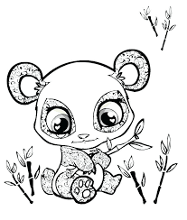 coloring pages draw a cartoon panda