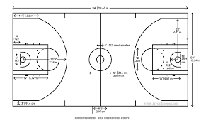 basketball court with dimensions