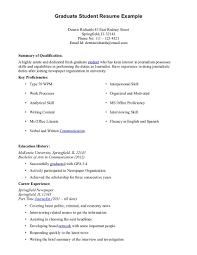 Undergraduate Sample Resume 3 8 18 Graduate Student Template