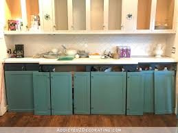 sneak k teal paint color for kitchen cabinets backs of cabinet doors painted