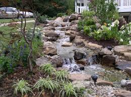 Small Picture pictures backyard waterfalls Stream flowing away from the home