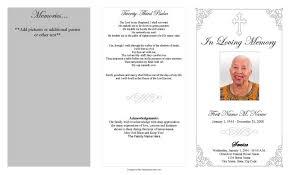 Grey Ornate Cross Trifold Funeral Program Template