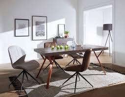 Tisch Akazie Massiv Grau