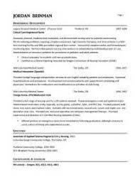 Nursing RN Resume Sample