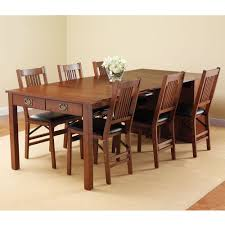 Extendable Dining Room Tables Atelier Burnished Brown Pedestal - Expandable dining room table sets