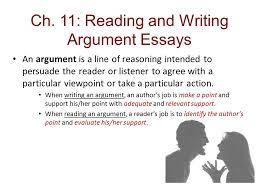 Example Of Argument Essays Ch 11 Reading And Writing Argument Essays Ppt Download