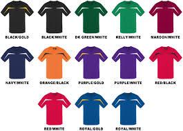 Baw Size Chart Baw Youth Short Sleeve Razor Jersey Shirts