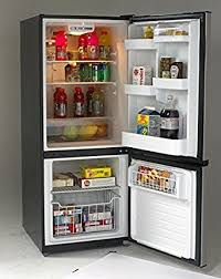 refrigerator amazon. avanti ffbm102d3s bottom mount frost free freezer/refrigerator, black with stainless steel doors refrigerator amazon