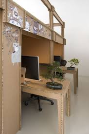 cardboard office furniture. Nothing Cardboard Office Interior By Alrik Koudenburg And Joost Van Bleiswijk Furniture O