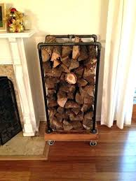 firewood rack wood rack fireplace wood rack recycled pallets and some black pipe wood rack firewood rack