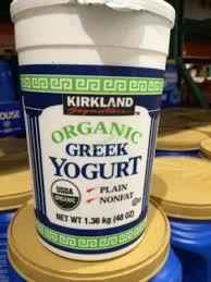 organic greek yogurt from kirkland signature calories fat carbs and protein