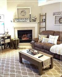 area rug with brown couch photo 4 of cozy living room decor ladder winter to match