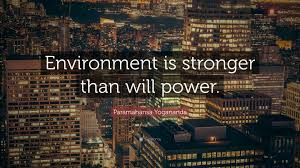 "Willpower Quotes Enchanting Paramahansa Yogananda Quote ""Environment Is Stronger Than Will"