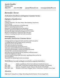 Bartender Resume Examples Templa Sevte