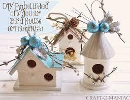 Diy Birdhouse Diy Embellished Dollar Bird House Ornaments Craft O Maniac