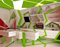 Small Picture Modern Kitchen Design by Gemelli Design Orange and Green Colors