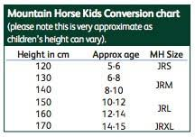 Mountain Horse Jacket Size Chart Mountain Horse Junior Crew Jacket Navy