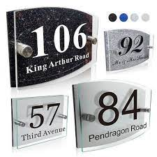 modern house sign personalised plaques