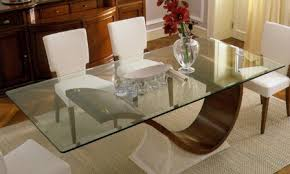 custom glass table top