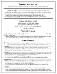 Nurse Resumes Examples Nursing School Student Resume Template
