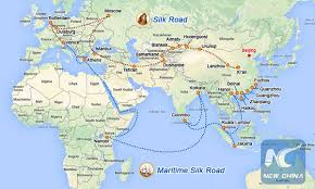 Image result for one belt one road map