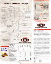 Tru Spec Jacket Sizing Chart Tru Spec Tru Tactical Response Uniform