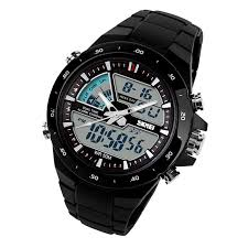 skmei 1016 men s waterproof analog digital sports watch black skmei 1016 men s waterproof analog digital sports watch black