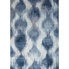 prevnext bossa 160x230cm vintage style ikat rug blue
