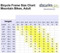 Mountain Bicycle Size Chart 15 Up To Date Road Bike Size For Height Chart