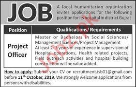 Project Officer Cv Project Officer Job For Hospital In Gujrat 2019 Job