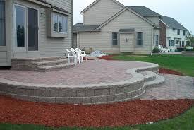 raised patio design ideas paver patio installations repair within sizing 1600 x 1071
