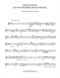 defying gravity sheet music defying gravity from the broadway musical wicked sheet music by
