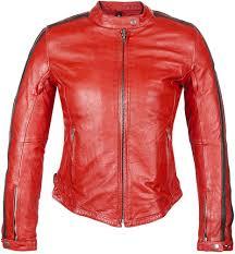helstons angel rag las leather jacket jackets women red get s on designer helstons
