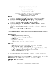 Best Stock Option Trader Resume Photos Example Resume And