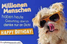 Geburtstagskarte Mit Schönem Spruch Hundemotiv
