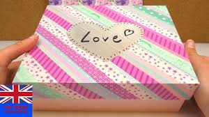 Decorating Boxes With Paper DIY Glossy Box Tutorial How to Decorate a Glossybox with Washi 55