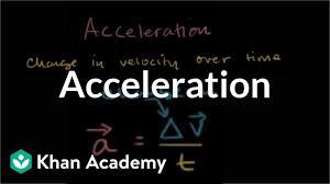 8th Grade Science Formula Chart Acceleration Video Khan Academy