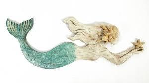 skillful ideas mermaid wall art new trends hanging sculpture coastal ocean beach starfish s decor pottery