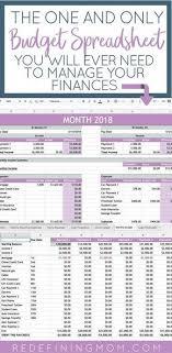 Easy Family Budget Spreadsheet Family Finances Budget