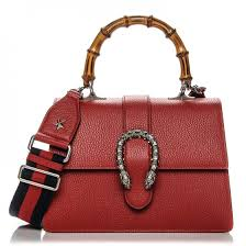 gucci pebbled calfskin medium dionysus top handle bag hibiscus red 192481