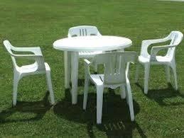 Sedie Schienale Alto Bianche : Sedie da giardino in plastica tavoli e