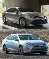 toyota new camry 2018. beautiful new 2018 toyota camry vs 2015 front three quarters to toyota new camry