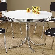 coaster fine furniture retro round dining table