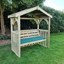 croft anastasia 3 seat garden arbour