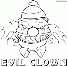 Small Picture Clown Coloring Sheets This Mask Page Is A Scary Halloween Pages